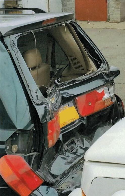 Anthony's Car damage